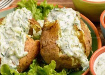 Pommes de terre farcie au four