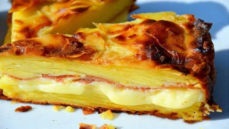 Gâteau Invisible Raclette à la Pomme de terre