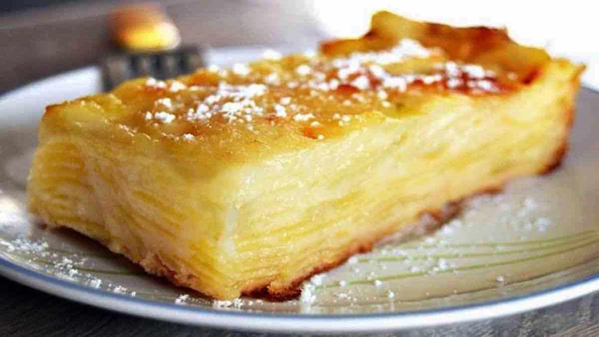 Gâteau invisible aux pommes fondant: