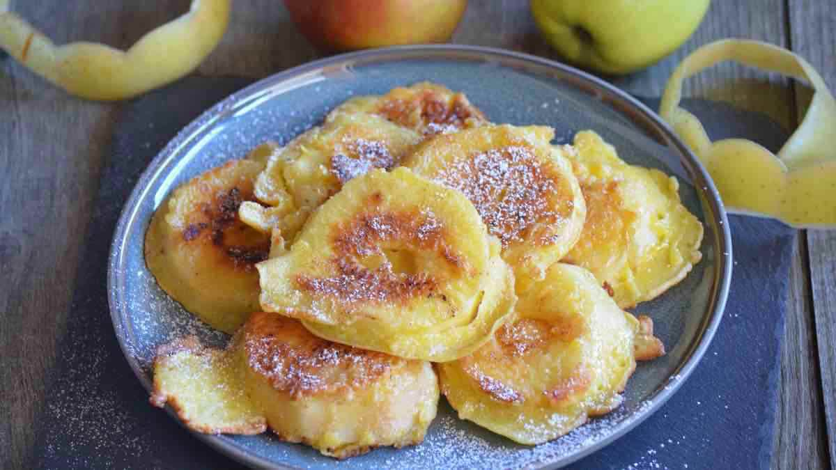 Beignets de pommes à la poêle