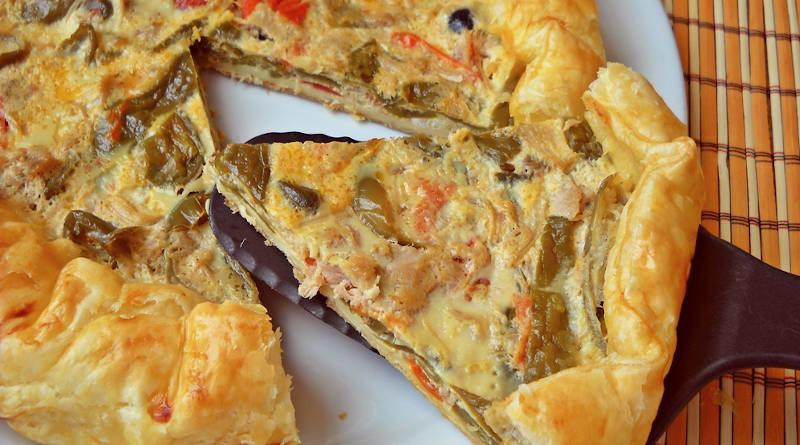 Tarte salée aux poivrons et thon