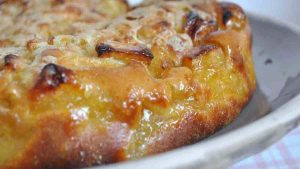 Moelleux aux pommes et sa croûte croustillante