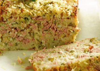 Pain de viande au thon et aux pommes de terre