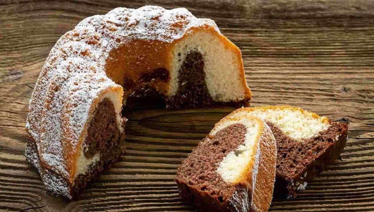 gâteau éponge marbré