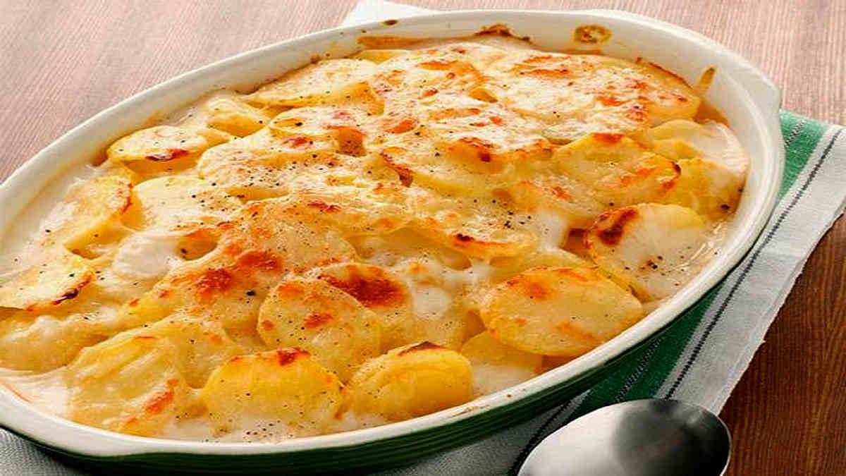 Gratin aux poireaux et pommes de terre