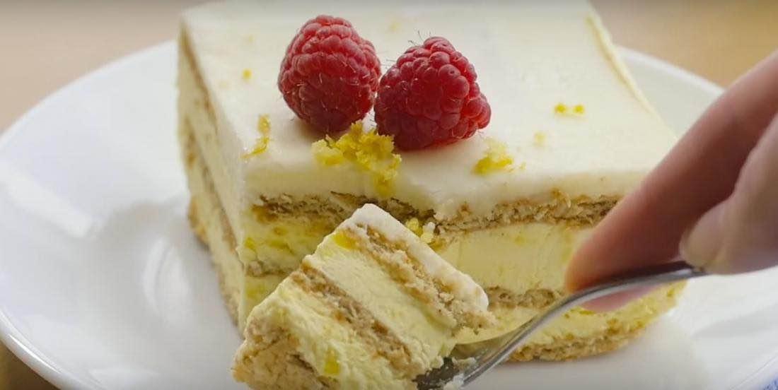 Gâteau au citron sans cuisson