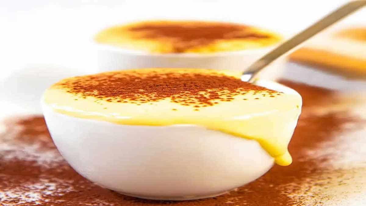 Crème aux oeufs à la vanille