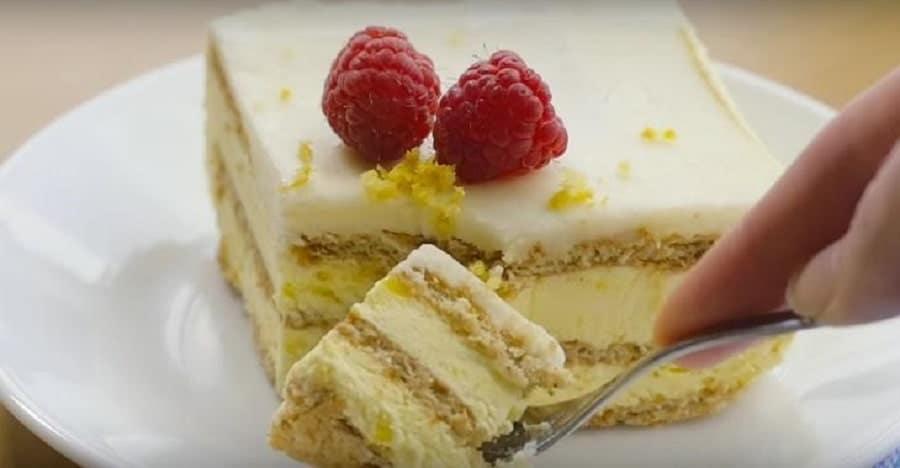 Gâteau frigidaire au citron