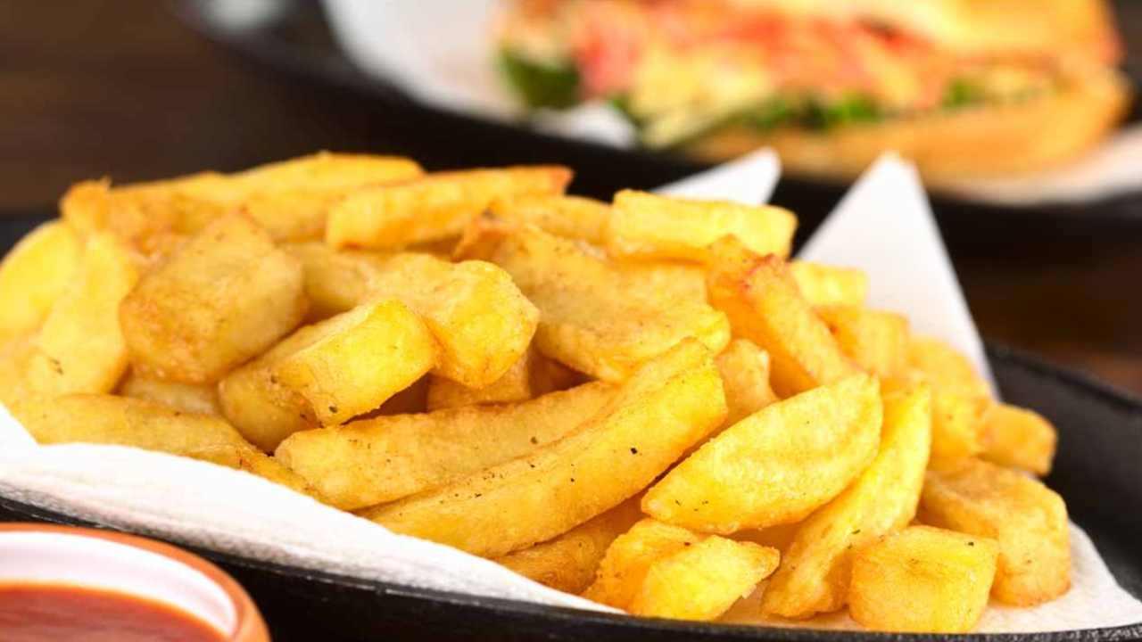 Frites croustillantes au four