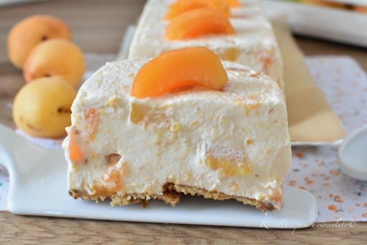 Desserts glacés aux abricots