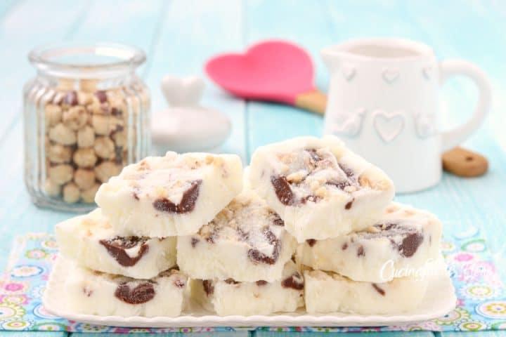 Carrés de yaourt et de Nutella