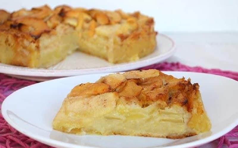 Gâteau crémeux aux pommes