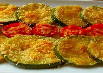 Courgettes grillées et tomates cerises