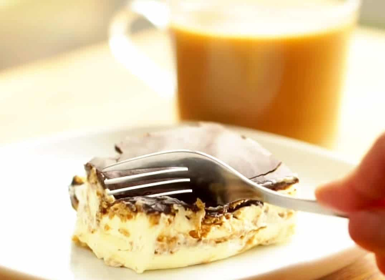 Gâteau frigidaire éclair sans cuisson
