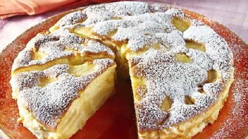 Recette Gâteau flan aux pommes