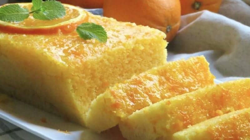 Gâteau moelleux à l'orange qui cuit en 5 minutes