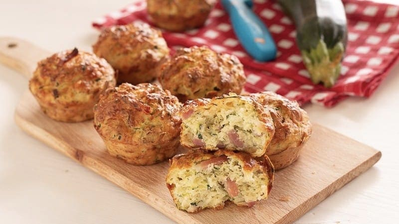 Muffins de courgettes au fromage