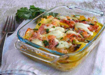 Gratin de pommes de terre, Parmesan et champignons sans béchamel