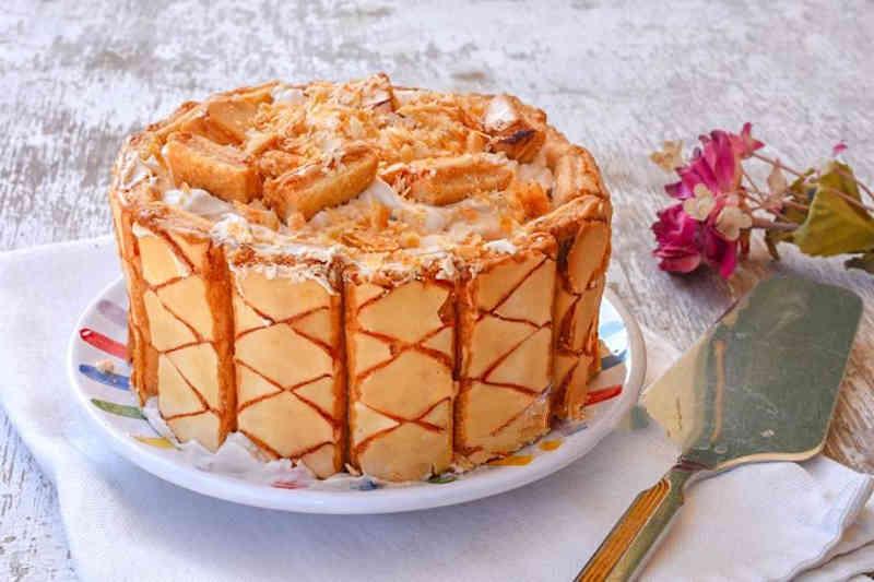 Gâteau au café froid