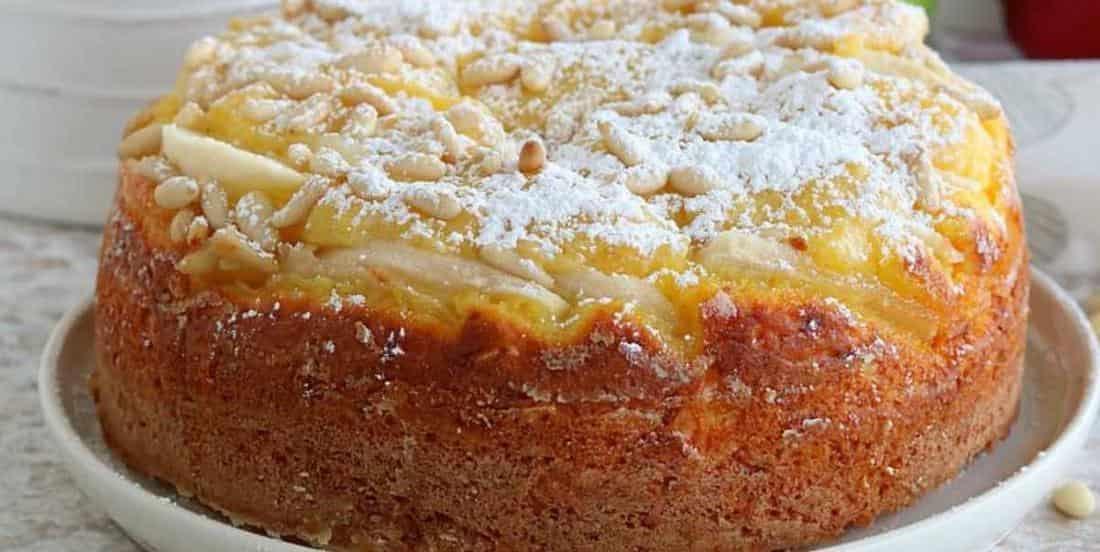 Tarte-gâteau gourmande aux pommes