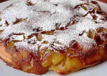 Gâteau aux pommes minute à la poêle