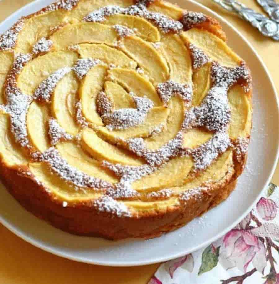 Gâteau parfait aux pommes sans beurre