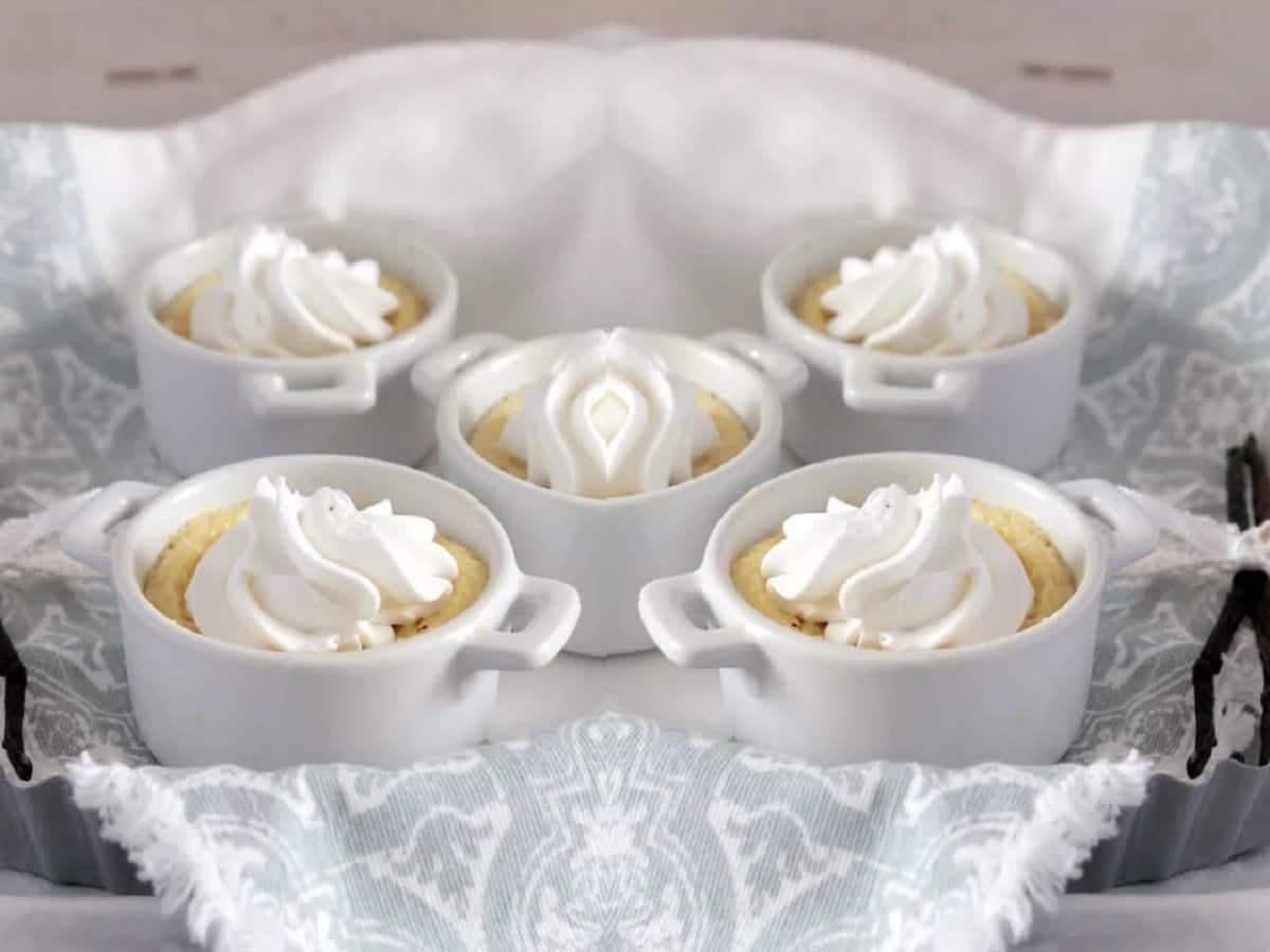 dessert léger à la vanille