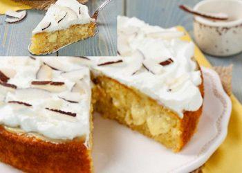 Gâteau à la crème de noix de coco et de citron