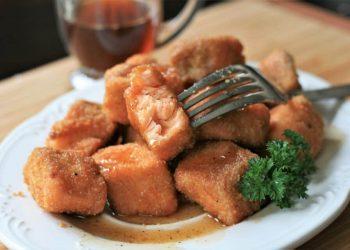 cubes de saumon croustillants
