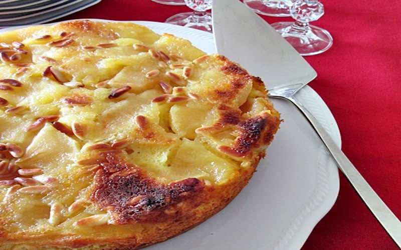 gâteau aux pommes et à la ricotta