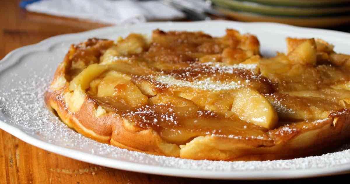 Crêpe allemande aux pommes