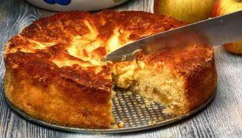 Tarte aux pommes de campagne à base de pain rassis