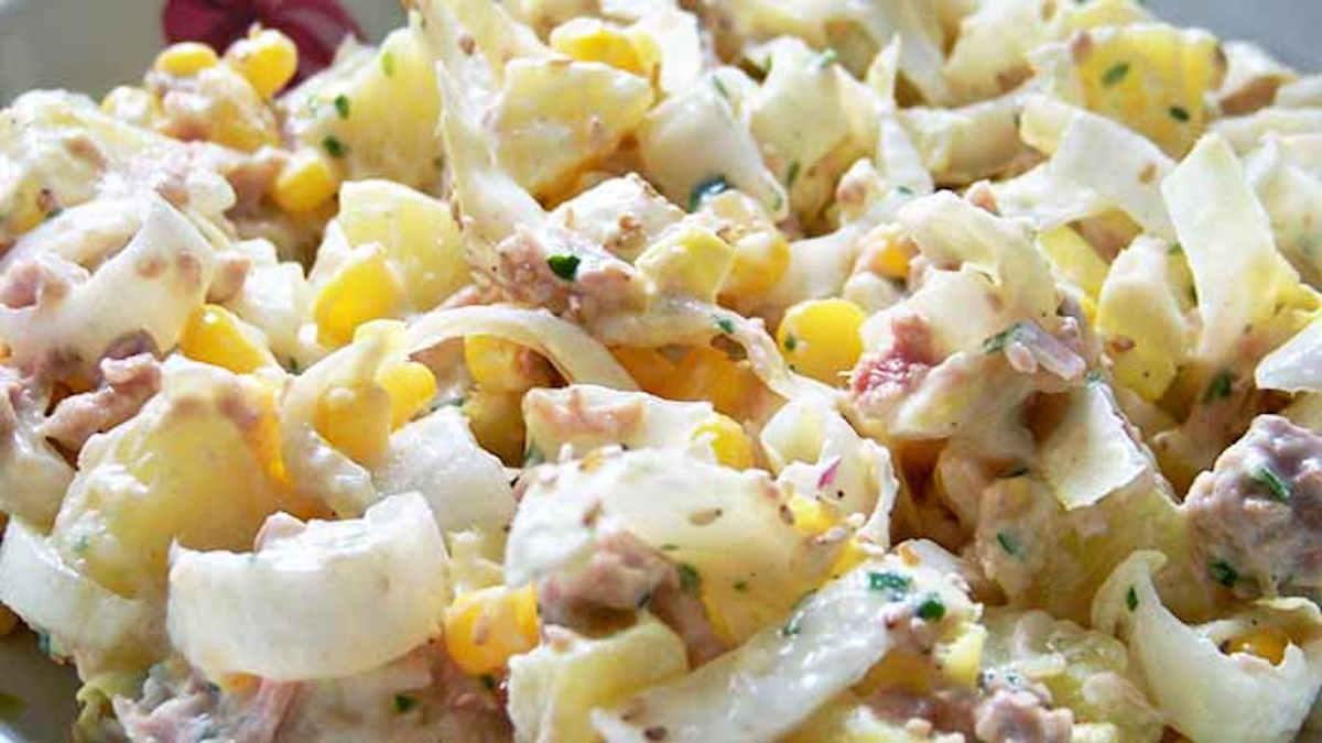 Salade de pommes de terre, endives et thon