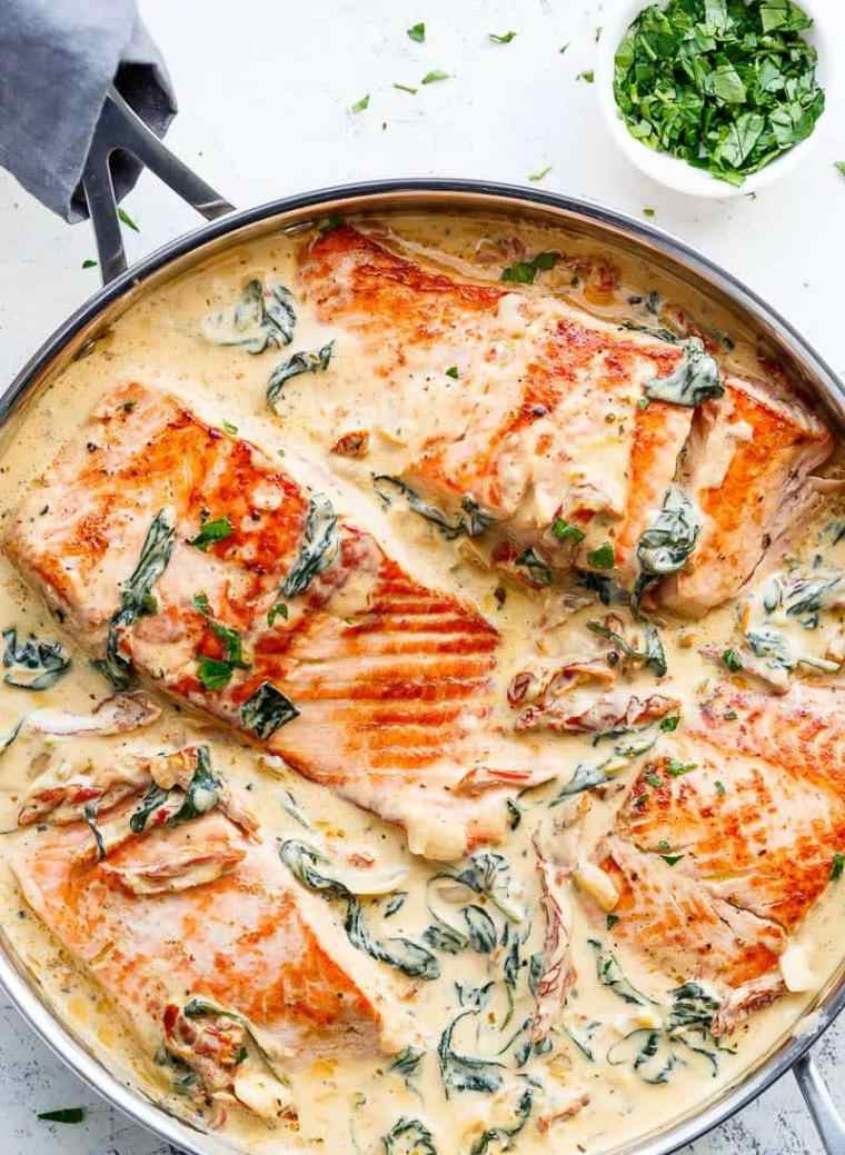 saumon au beurre à l'ail