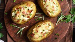 Pommes de terre farcie au mozzarella
