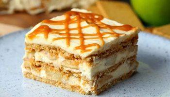 Fondant Aux Pommes à la crème sans cuisson