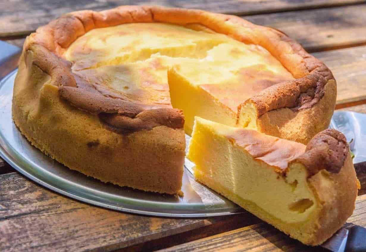 Gâteau au lait crémeux léger