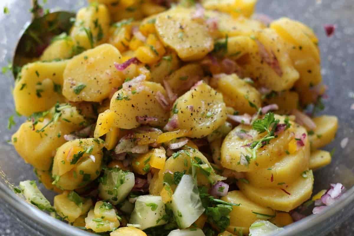 Salade de pommes de terre et pois chiches
