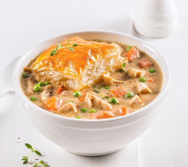 Soupe de pâté au poulet