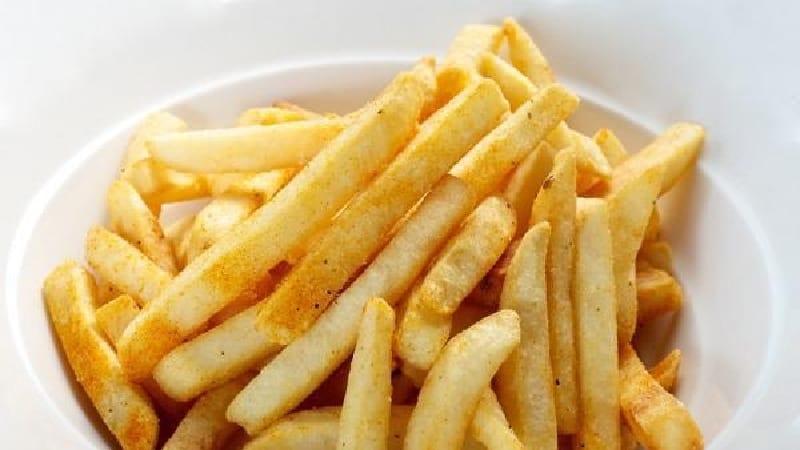 Frites au four sans huile.