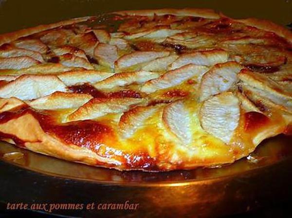 Tarte aux pommes et carambars à l'ancienne