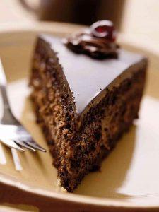 Gâteau au chocolat et mousse à la ricotta