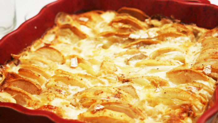 Gratin aux pommes de terre et au camembert