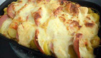 Gratin pomme de terre cervelas mozzarella