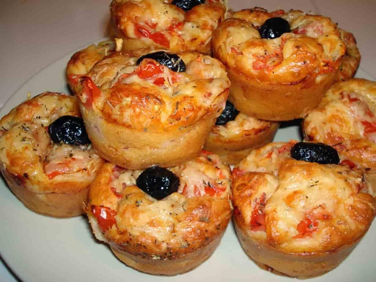 Muffin Salé Façon Pizza Facile Et Rapide