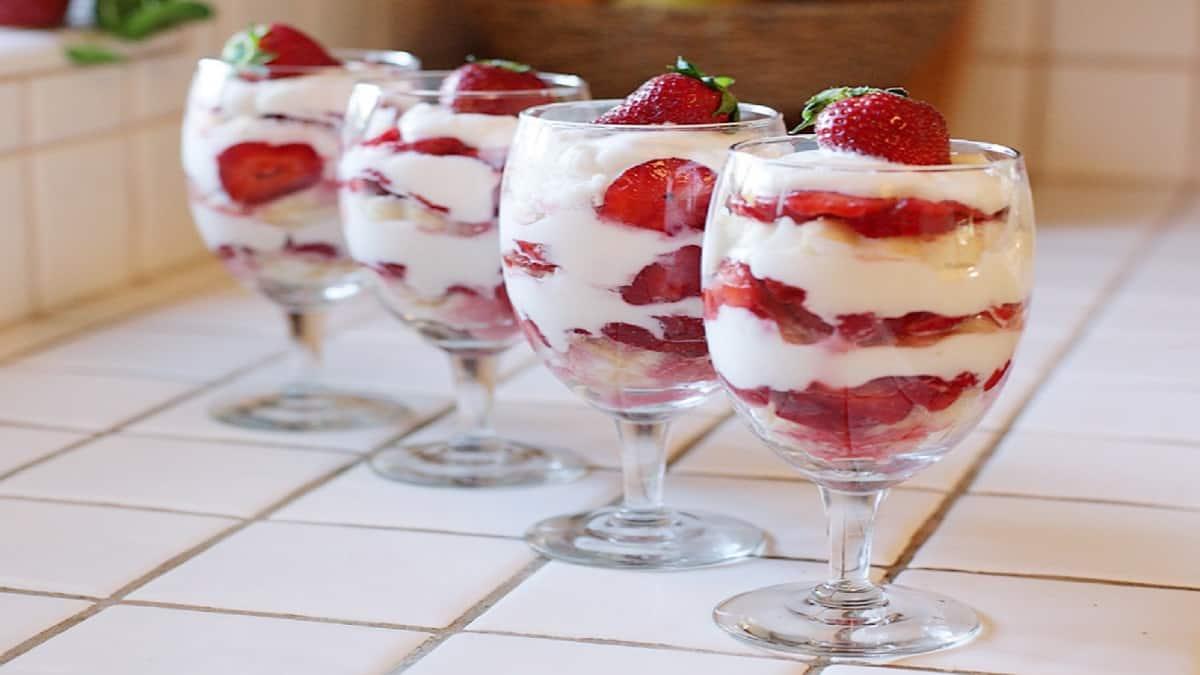 Shortcake aux fraises en verrines