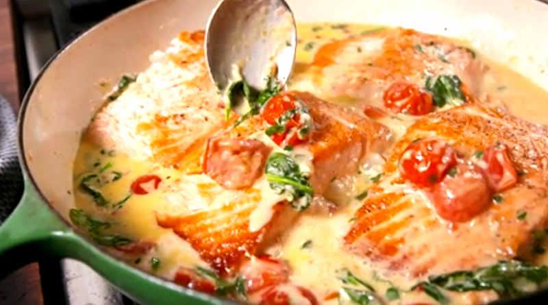 Filets de saumon au beurre