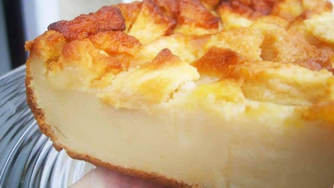 Gâteau Flan aux pommes crémeux