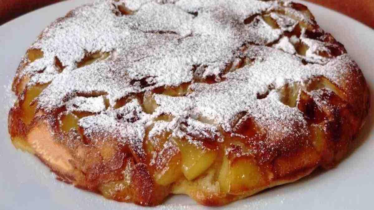 Gâteau aux pommes minute sans four