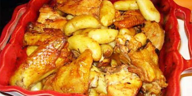 Poulet au four à Portugaise